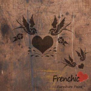 Swallows in love Stencil