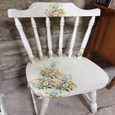 Dinning Chair with IOD Transfers