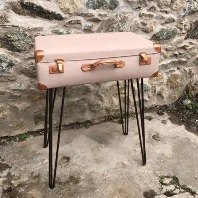 Suitcase painted in Frenchic New & Improved Lazy Range - Nougat