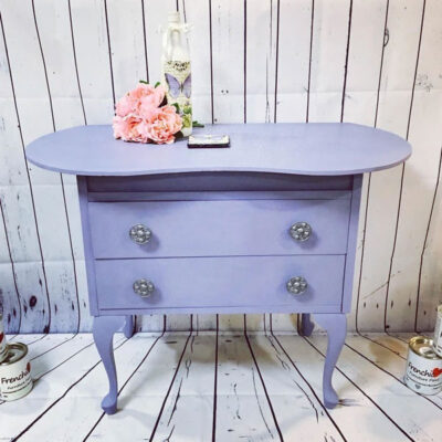 Table painted in Frenchic New & Improved Lazy Range - Moody Blue