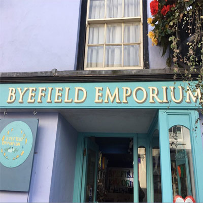 Outside of Byefield Emporium in Coleford