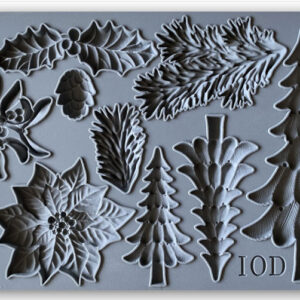 Boughs of Holly decor mould - IOD