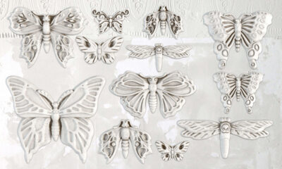 Monarch Butterflies Decor Moulds from Iron Orchid Designs old by Byefield Emporium