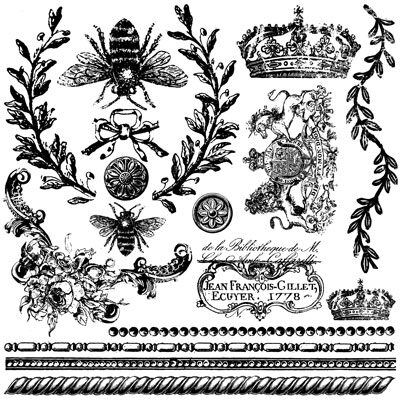 Queen Bee Decor Stamp Iron Orchid design