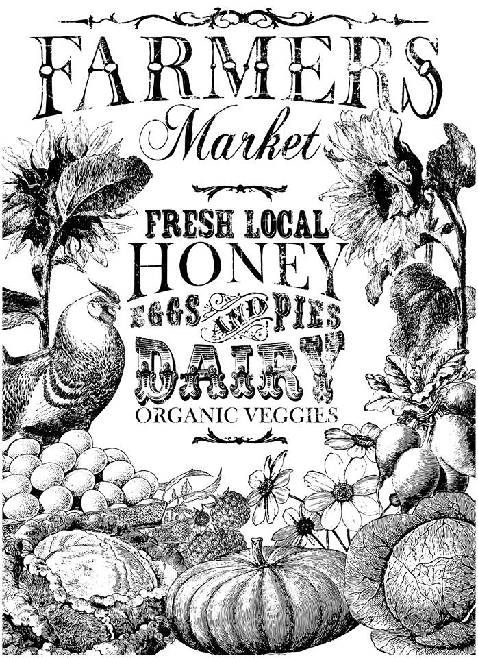 Faarmers Market Iron Orchid Design