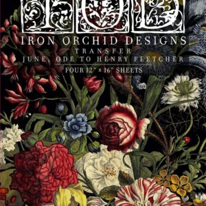 June Ode to Henry Fletch Iron Orchid Designs Transfet