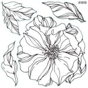 Peonies Iron Orchid Designs Stamp